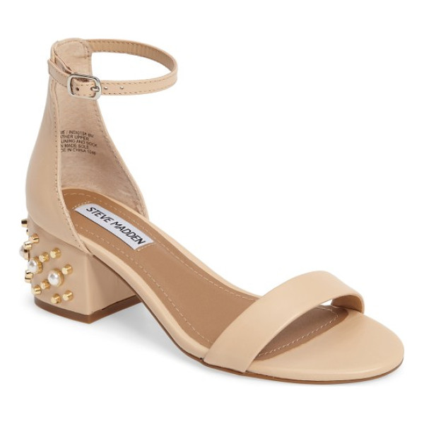 STEVE MADDEN indi sandal - A block-heel sandal embellished with glinting studs and