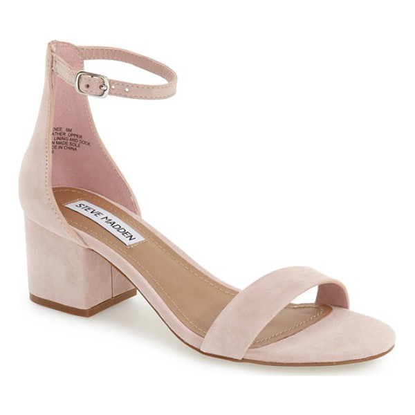 STEVE MADDEN irenee ankle strap sandal - Lush suede extends the vintage sophistication of a...