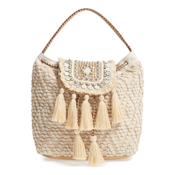 STEVE MADDEN jaxelcoins backpack - Capitalize on boho-chic style with a textured drawstring...