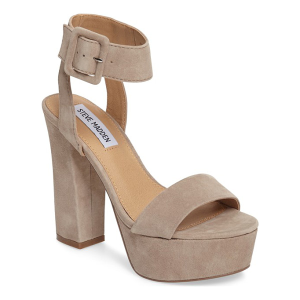 STEVE MADDEN joline sandal - A chunky platform and sky-high heel add retro-inspired