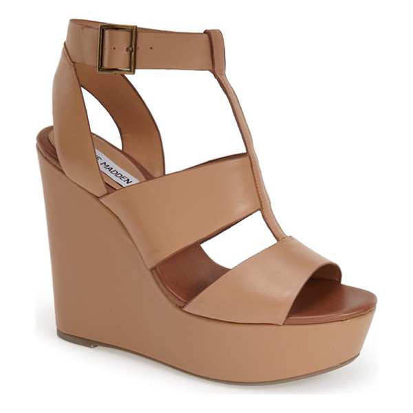 STEVE MADDEN keenia wedge sandal - Give your summer wardrobe a boost with this bold wedge...