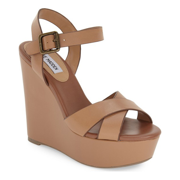STEVE MADDEN keviee wedge sandal - A towering wedge and a chunky platform lift this strappy...