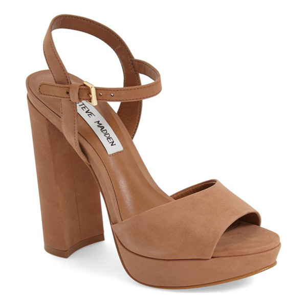 STEVE MADDEN kierra platform sandal - Lush suede and a lofty platform intensify the throwback...