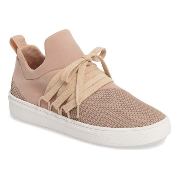 STEVE MADDEN lancer sneaker - Wide-set laces and a monochromatic palette amplify the...