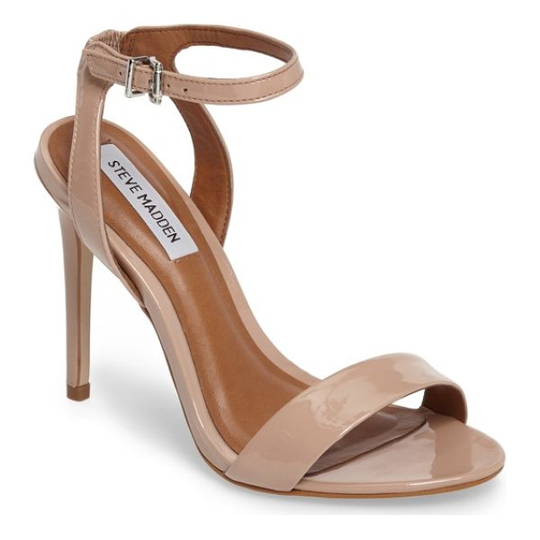 STEVE MADDEN landen ankle strap sandal - A slim ankle strap lends a dash of on-trend elegance to a...