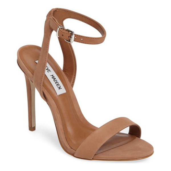 STEVE MADDEN landen ankle strap sandal - A slim ankle strap lends a dash of on-trend elegance to a