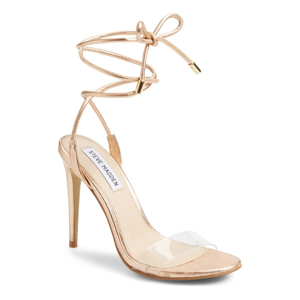 "STEVE MADDEN lyla wraparound sandal - Taking ""barely there"" to new heights, this flirty sandal..."