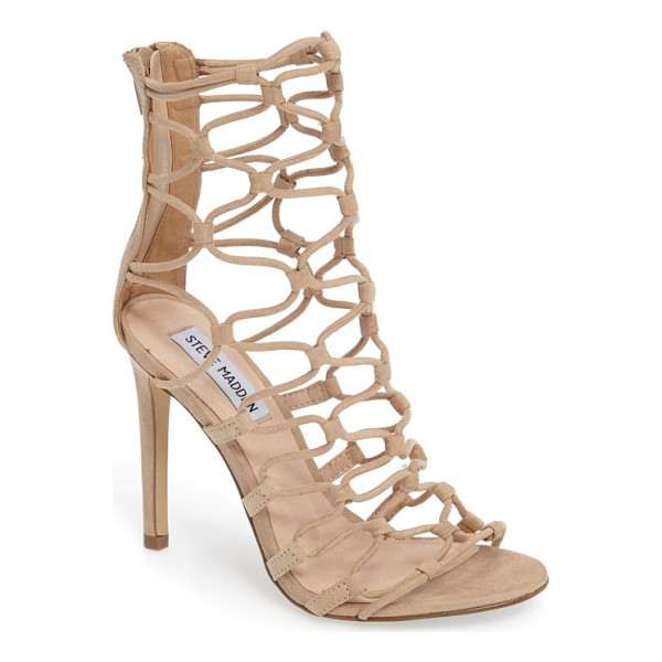 STEVE MADDEN mayfair latticework tall sandal - A gorgeous latticework of slender lacing defines a tall,