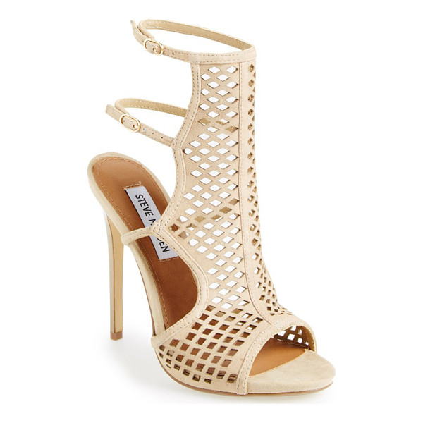 STEVE MADDEN maylin cage sandal - Amp up the drama with this trendsetting sandal featuring a...