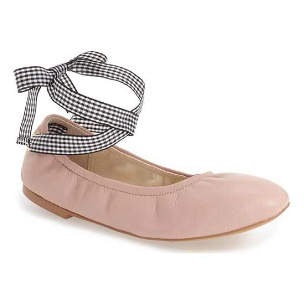 STEVE MADDEN meow ribbon tie flat - Wraparound ribbon ties heighten the ballet influence of a...