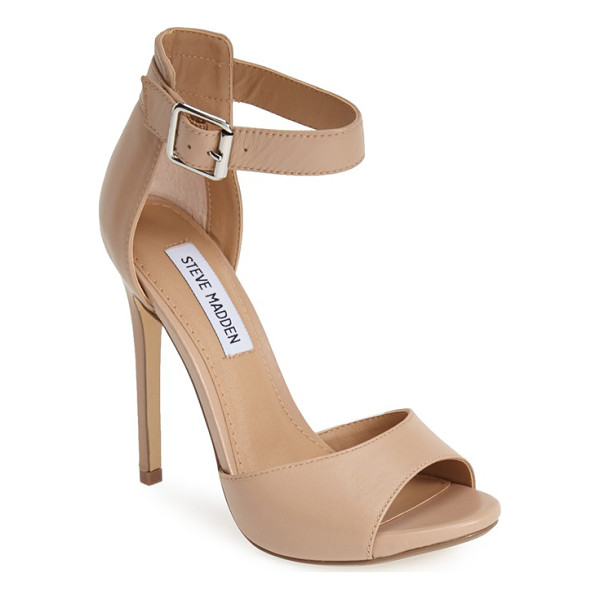 STEVE MADDEN mogull ankle strap sandal - A bold take on this summer's minimalist trend, this sultry...