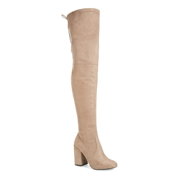 STEVE MADDEN norri over the knee boot - A chunky covered block heel and clean, uncomplicated lines...