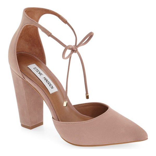 STEVE MADDEN pamperd lace-up pump - Slender laces tipped in gleaming hardware cinch up the...