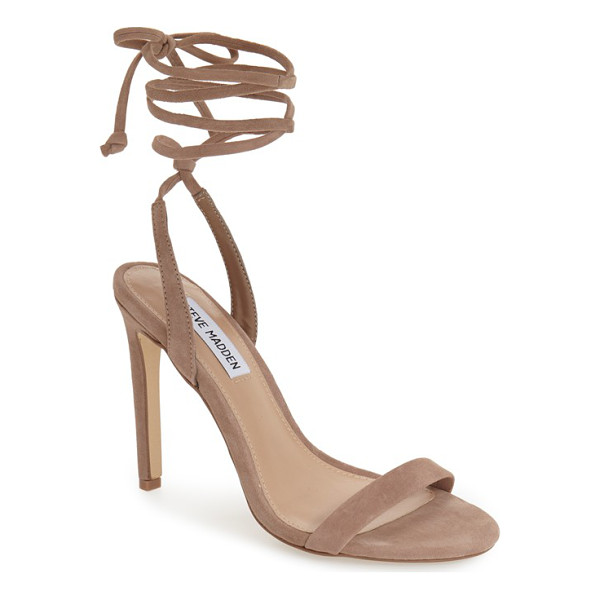 STEVE MADDEN pattrice ankle wrap sandal - Thin suede laces elegantly wrap around your ankle on this...