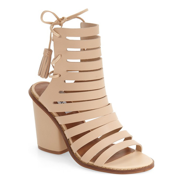 STEVE MADDEN 'pipa' cut out sandal - A bold block heel lifts a chic cutout sandal with slim...