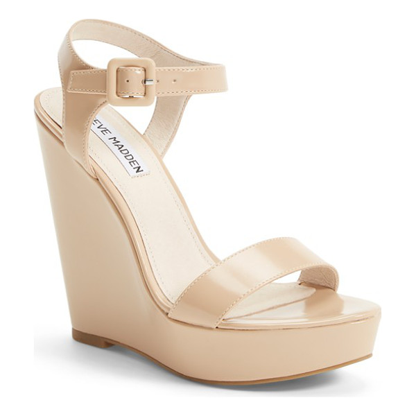 STEVE MADDEN prestine wedge sandal - A perfect balance of mod and retro, this ankle-strap sandal...
