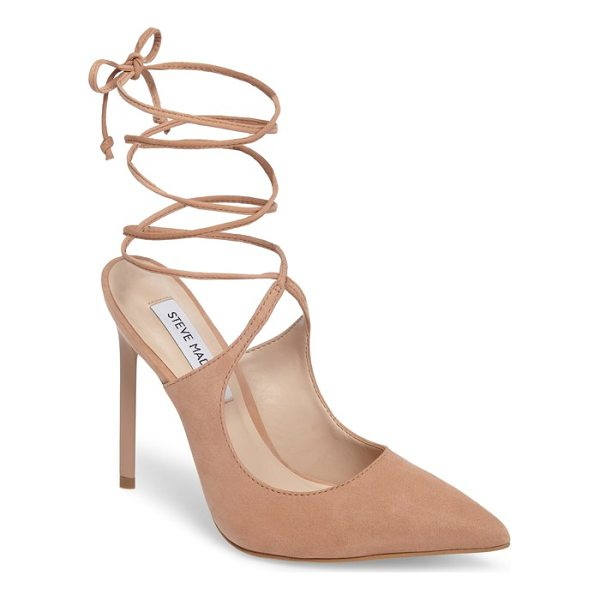 STEVE MADDEN raven ankle wrap pump - A slim stiletto, backless silhouette and slender ankle ties...