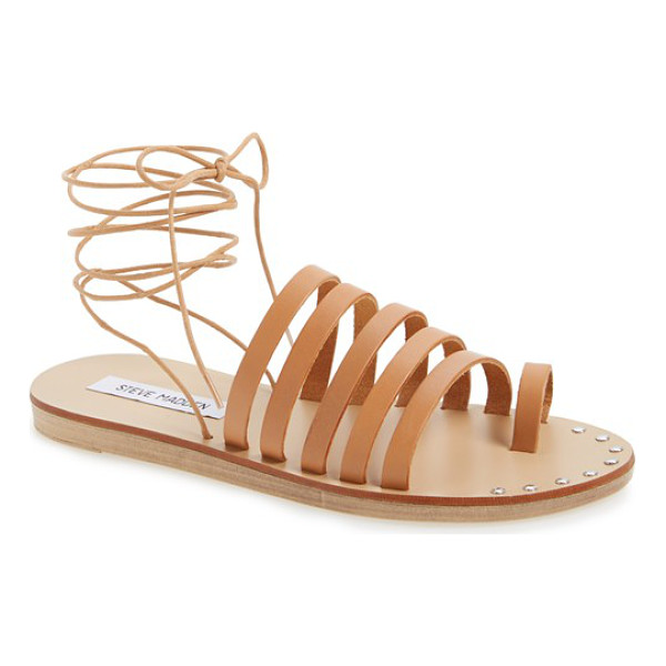STEVE MADDEN reisa strappy wraparound sandal - A cage of horizontal straps and a footbed fronted in...