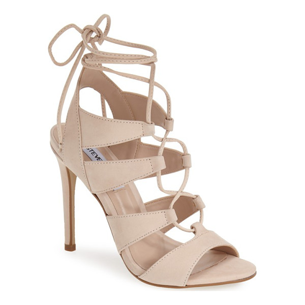 STEVE MADDEN 'sandalia' sandal - Crisscrossed laces corset the straps of a sizzling-hot...