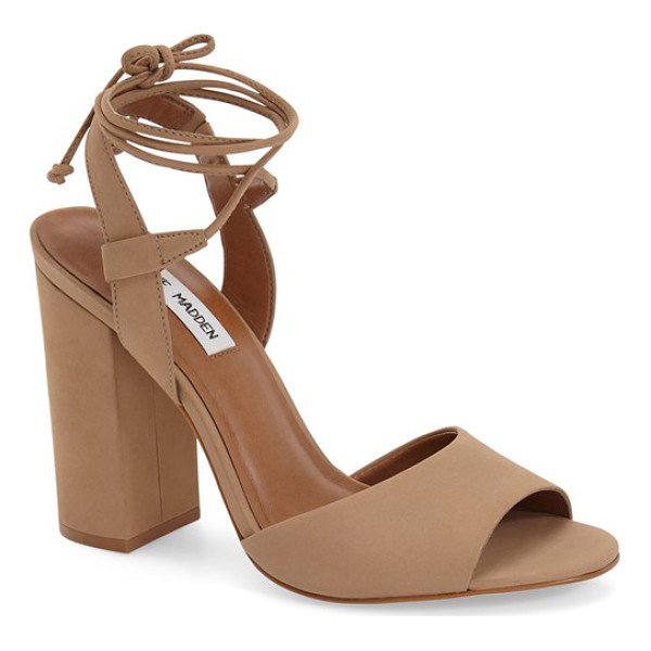 STEVE MADDEN serrina block heel lace up sandal - Both classic and modern, this standout sandal shaped from...