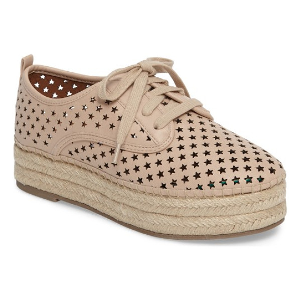 STEVE MADDEN shadow perforated platform oxford - A constellation of perforated stars brings breezy texture...