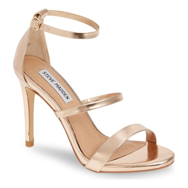 STEVE MADDEN sheena strappy sandal - Three slender straps and a towering stiletto give this...
