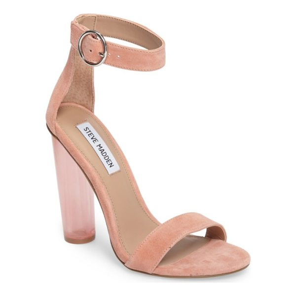 STEVE MADDEN teaser sandal - A transparent, cylindrical heel takes this simply styled...
