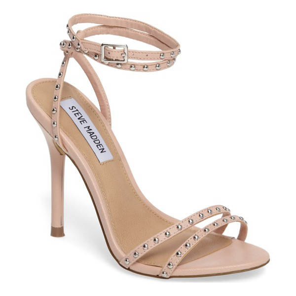 STEVE MADDEN wish studded strappy sandal - Domed studs punctuate the slender straps bridging the toe...