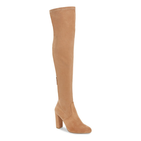 STEVE MADDEN 'emotions' stretch over the knee boot - Sleek, minimal styling defines this over-the-knee boot