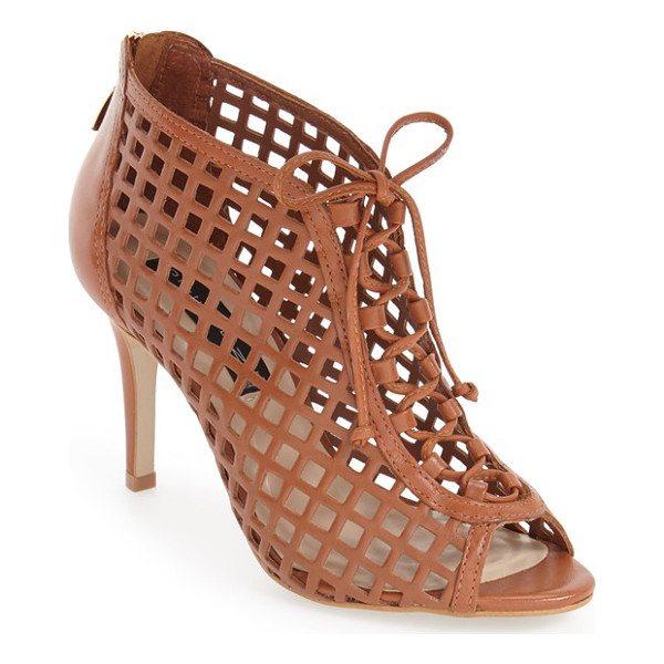 STEVEN BY STEVE MADDEN klio cage sandal - Gorgeous panels of perforated-leather latticework are...