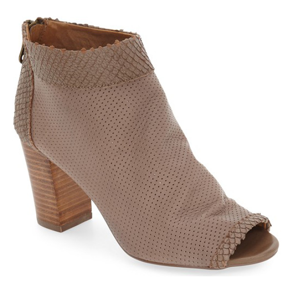 STEVEN BY STEVE MADDEN 'normandi' perforated peep-toe bootie - Perforated leather finished in faux snakeskin at the peep...