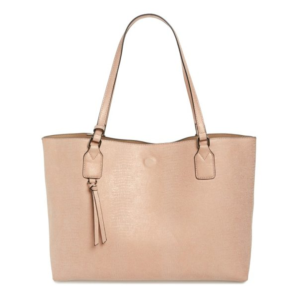 STREET LEVEL snake embossed faux leather tote - A roomy faux leather tote with an exotic snake-embossed...