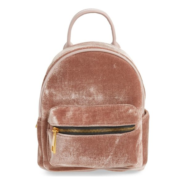 STREET LEVEL velvet backpack - Celebrate back-to-school season in style (even if you're...