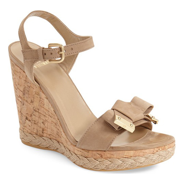 STUART WEITZMAN bonbon espadrille wedge - A braided espadrille wedge lends breezy, bohemian allure to...