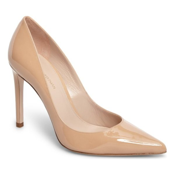 STUART WEITZMAN curvia pump - A timeless closet staple, this sleek pointy-toe pump is...