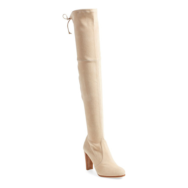 STUART WEITZMAN highland over the knee boot - Suede backed with Lycra shapes a supple, slimming...