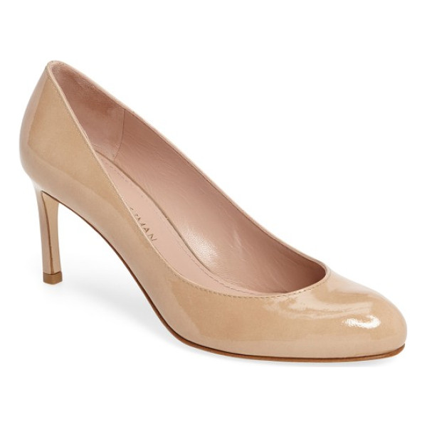 STUART WEITZMAN moody round toe pump - A rounded toe and a low topline distinguish an essential...