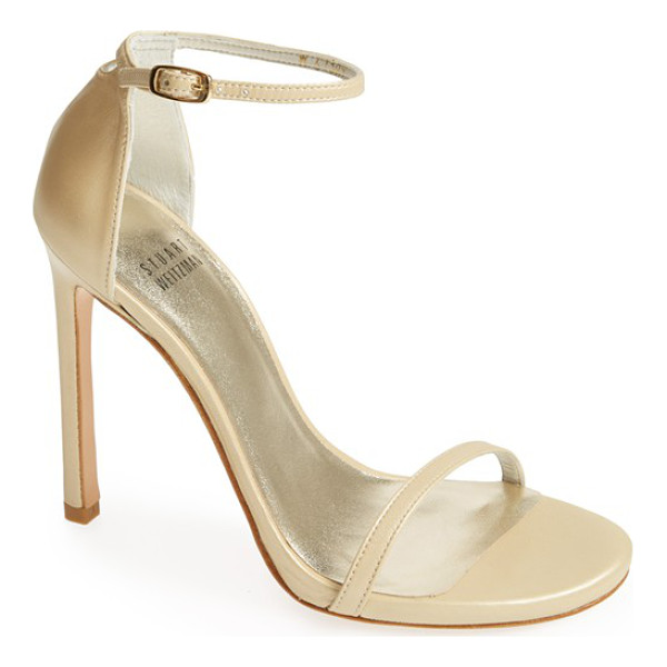 STUART WEITZMAN nudist sandal - Subtle texture lends depth and luster to a minimalist...