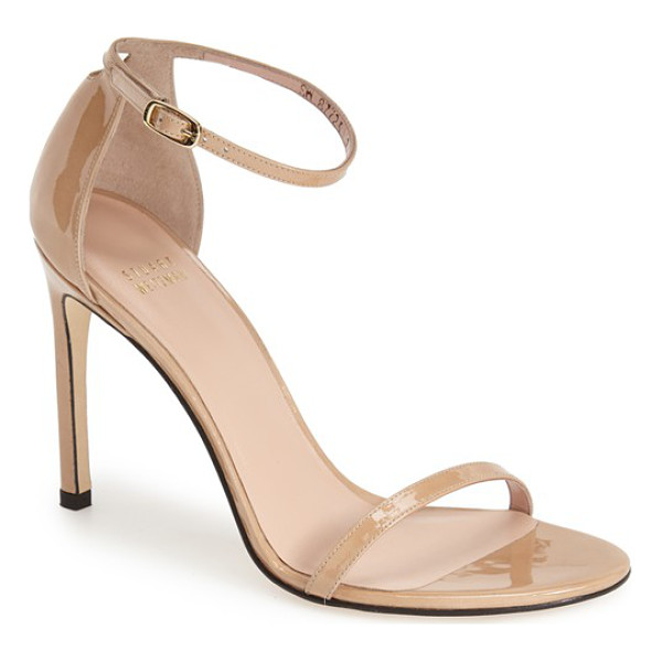 STUART WEITZMAN nudistsong ankle strap sandal - An updated version of the best-selling Nudist sandal, the...