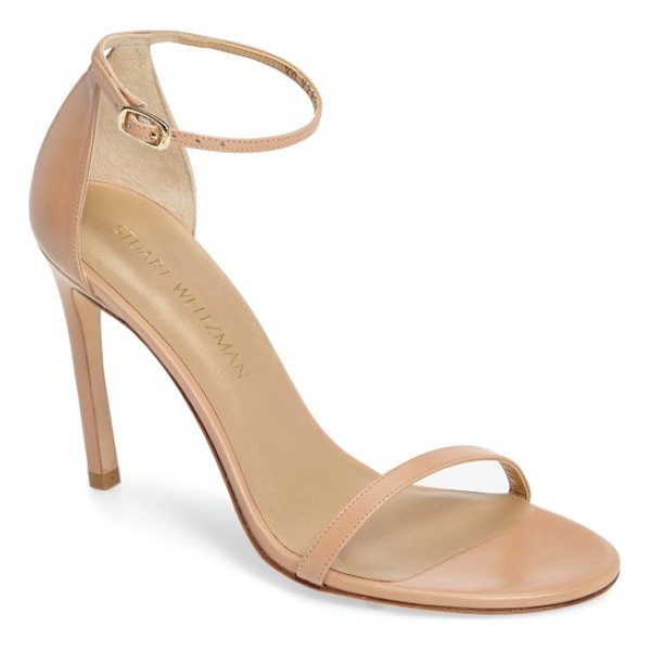 STUART WEITZMAN nudistsong ankle strap sandal - An updated version of the best-selling Nudist sandal, the