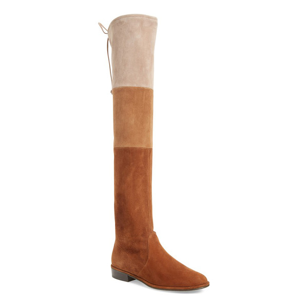 STUART WEITZMAN 'trio' over the knee boot - Stretchy color-blocked suede defines a tall statement boot...