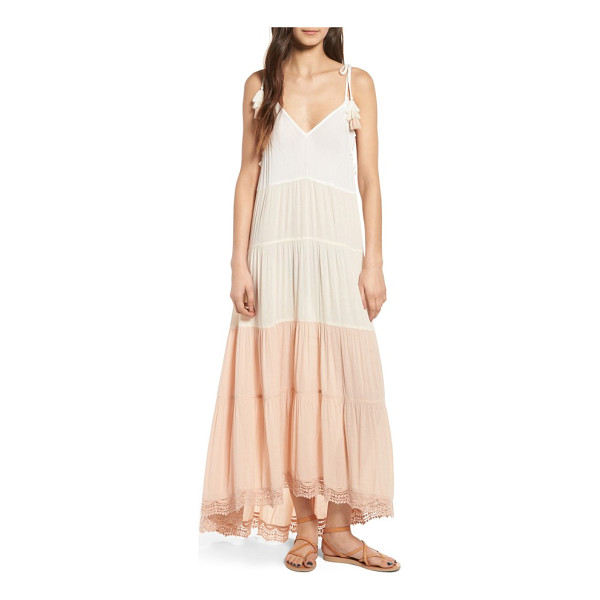 SUN & SHADOW colorblock maxi dress - Perfect for packing on your next trip to Tulum, this breezy...