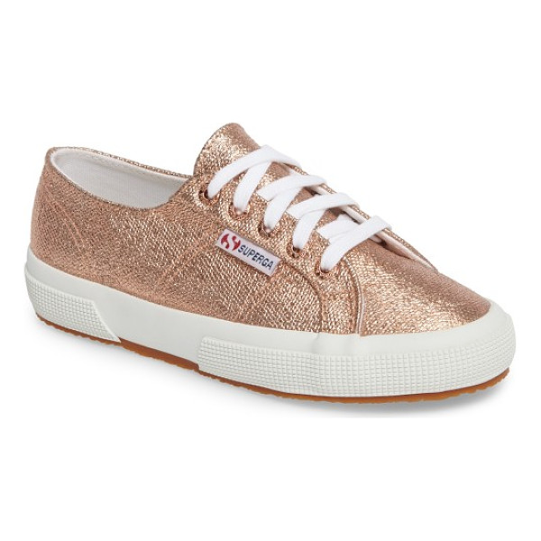 SUPERGA 2750 metallic sneaker - A metallic finish amps up the street-ready style of a...