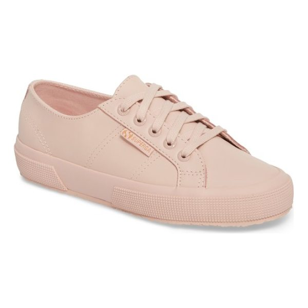 SUPERGA '2750' sneaker - Smooth leather composition provides a fresh, street-savvy...