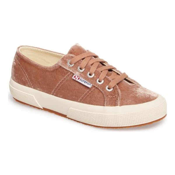SUPERGA cotu classic sneaker - A textured contrast sole sets off the low-profile design of...