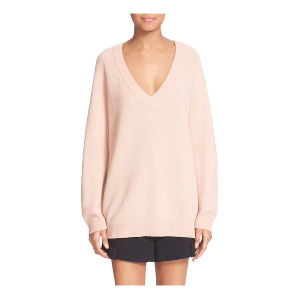 T BY ALEXANDER WANG deep v neck wool & cashmere sweater - A deep V neckline adds a sultry touch to a beautifully...