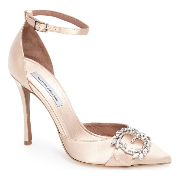 TABITHA SIMMONS tie the knot crystal buckle pump - A buckle set with Swarovski crystals sparkles at the vamp...
