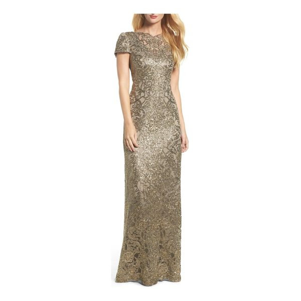 TADASHI SHOJI corded lace gown - When the occasion calls for all-out glamour, a corded-lace...