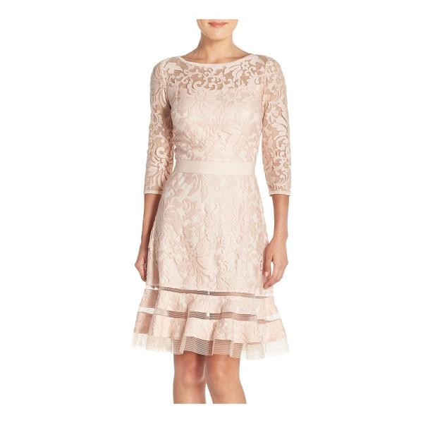 TADASHI SHOJI petite   lace overlay dress - Elaborate textured lace bolsters the vintage-inspired...