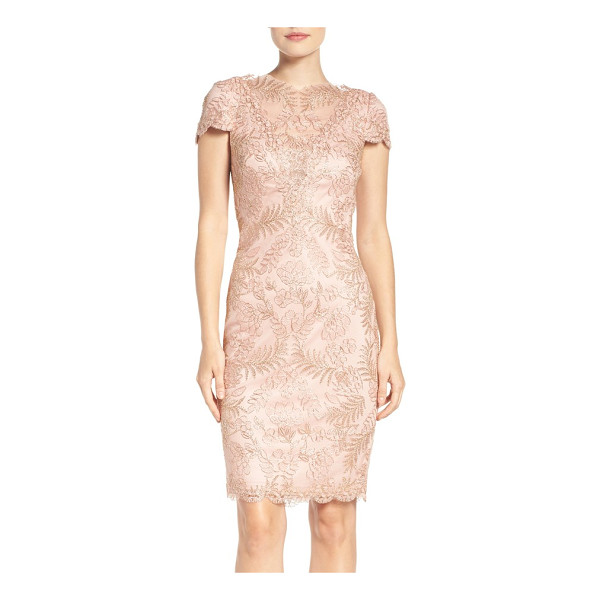 TADASHI SHOJI lace sheath dress - Elegant and romantic in stunning embroidered lace crafted...
